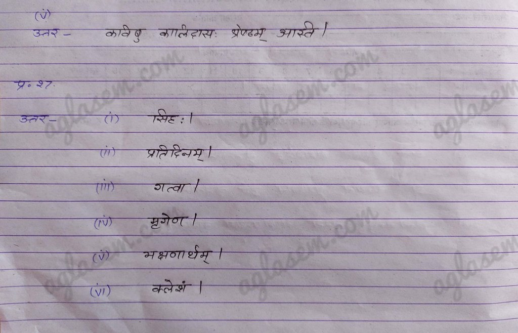 RBSE Class 10 Sanskrit Solved Question Paper 2020 [Available] - Download Answer Key Here