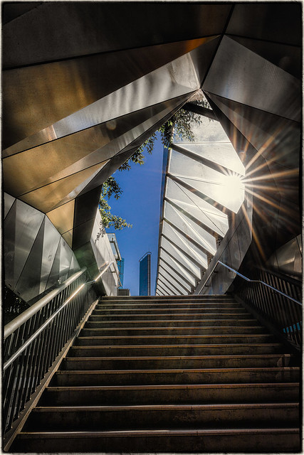 Stairs to Darling Harbour
