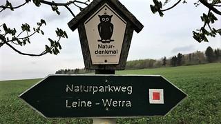 Sign Naturparkweg Leine Werra