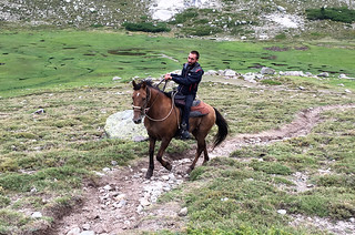 Horse rider near Lac de Nino