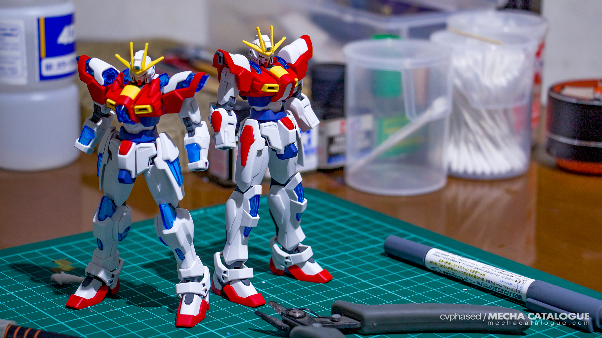 Look Ma, Still no Hands! Work-in-Progress #2: HGBF Build/Try Burning Gundam