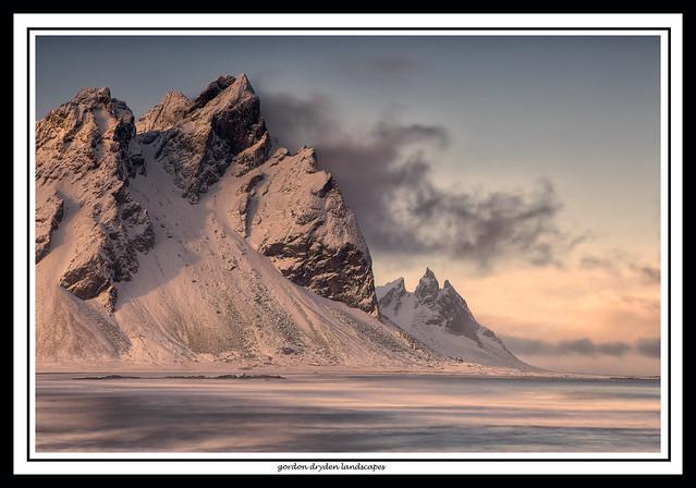 Kambhorn (the easternmost peak of the Vestrahorn}and Brunnhorn