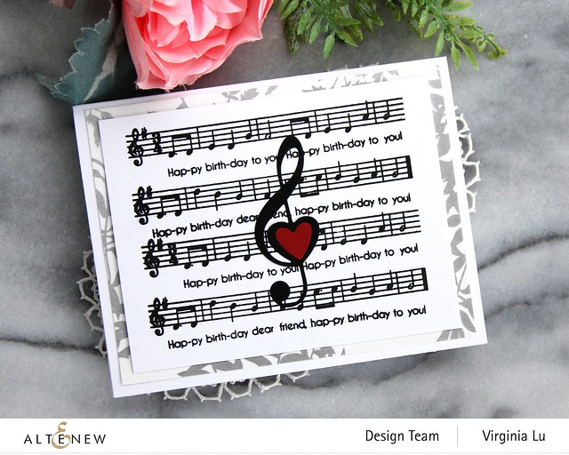 Altenew-Happybirthday to you-Diewith LogoTreble Love Die Set-Virginia#3