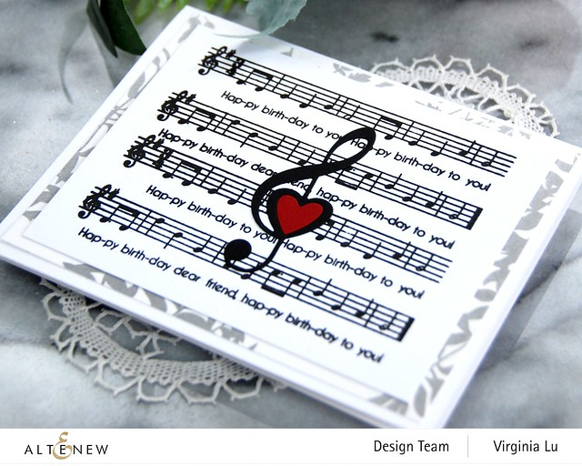 Altenew-Happybirthday to you-Diewith LogoTreble Love Die Set-Virginia#2