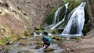 10 m high Lutter waterfall, Großbartloff.