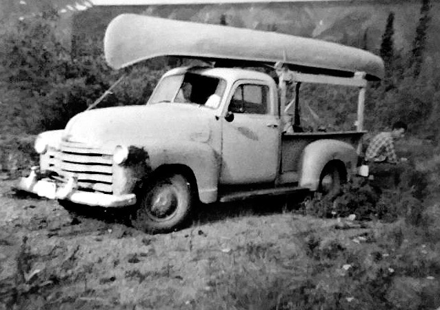 Found Photograph, Pickup Truck with Canoe
