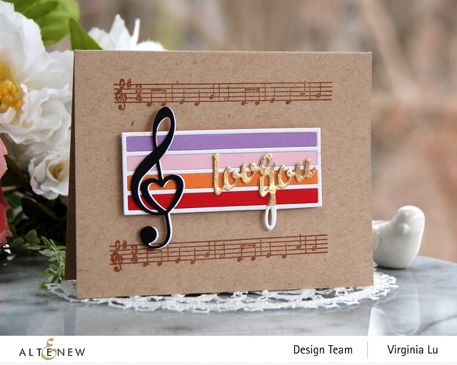 Altenew-Happybirthday to you-TrebleClef Die Set-Virginia#4