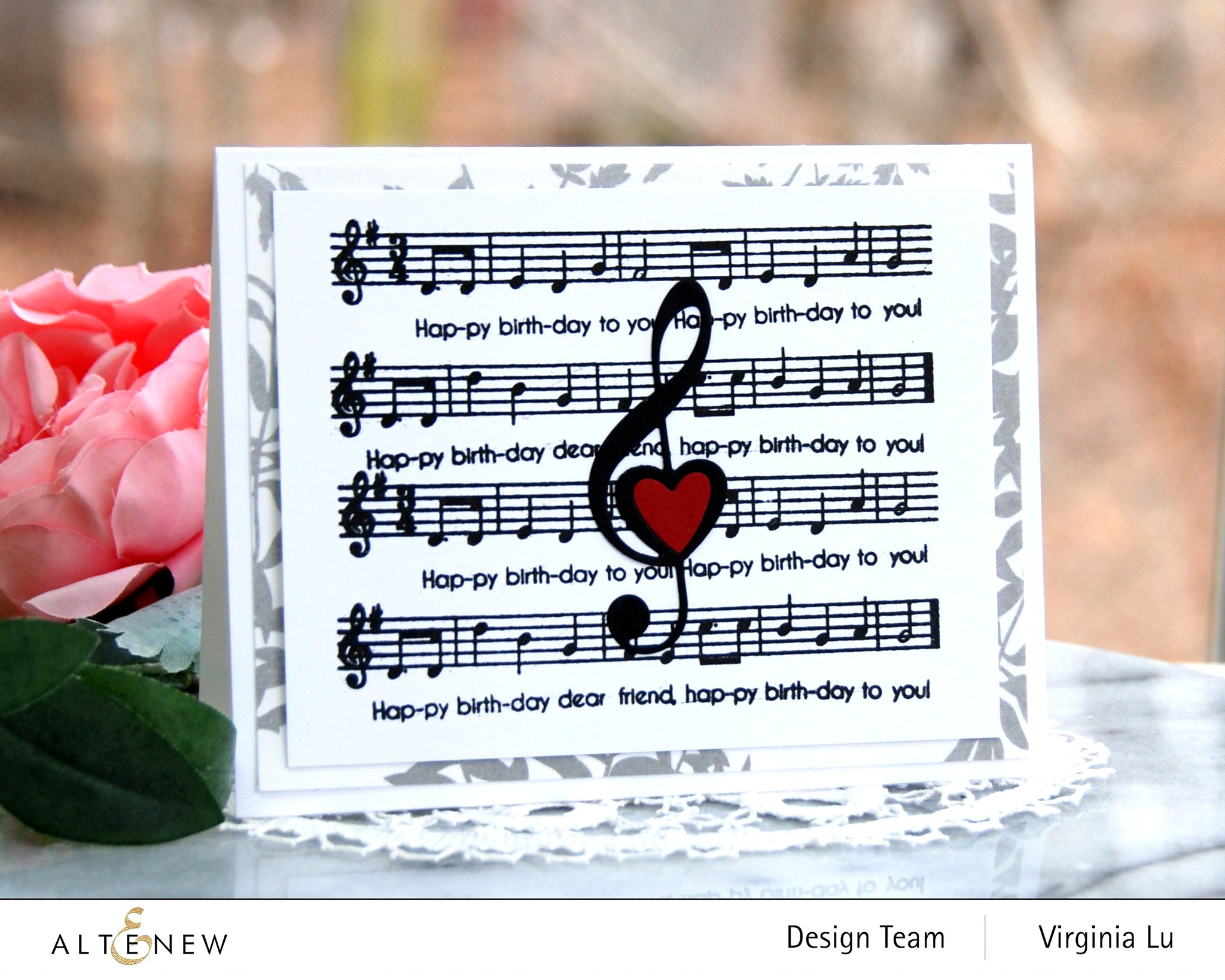 Altenew-Happybirthday to you-Diewith LogoTreble Love Die Set-Virginia#1