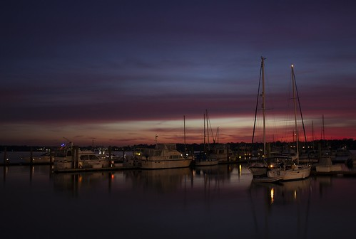 sunset color boat marina