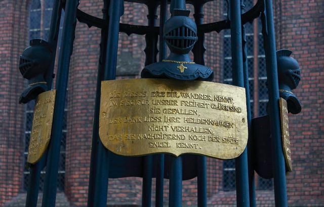 Das Denkmal für die Gefallenen der Befreiungskriege in Spandau