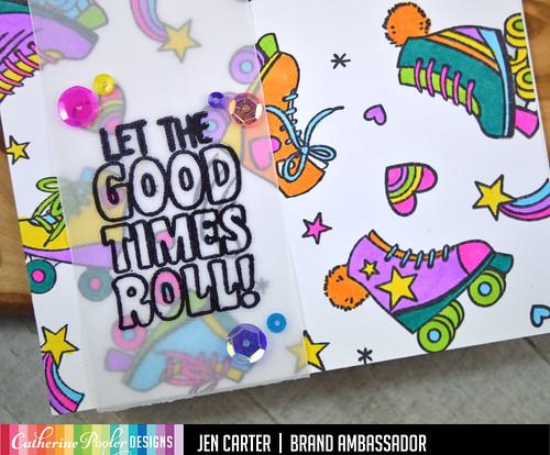 Let the Good Times Roll Paisley Park Sequins Vellum Strip JDC Closeup