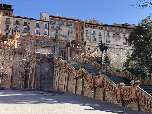 Escalinata neomudéjar de Teruel