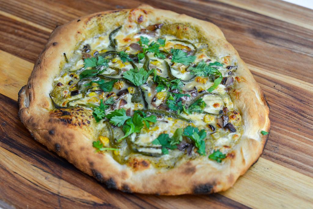 Roasted Poblano and Charred Corn Pizza