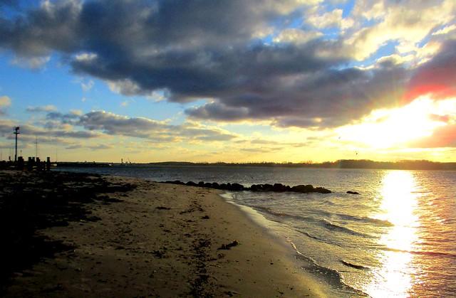 Sonne am Strand von Laboe