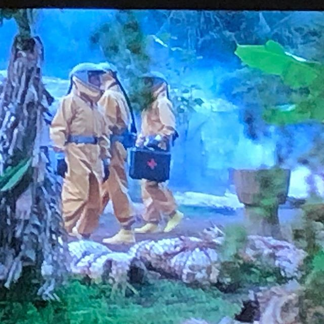 Watching Outbreak as a family. Good news - my kids are scared straight and don't want to go outside. Bad news - my kids may never go outside ever again! #parentingwin