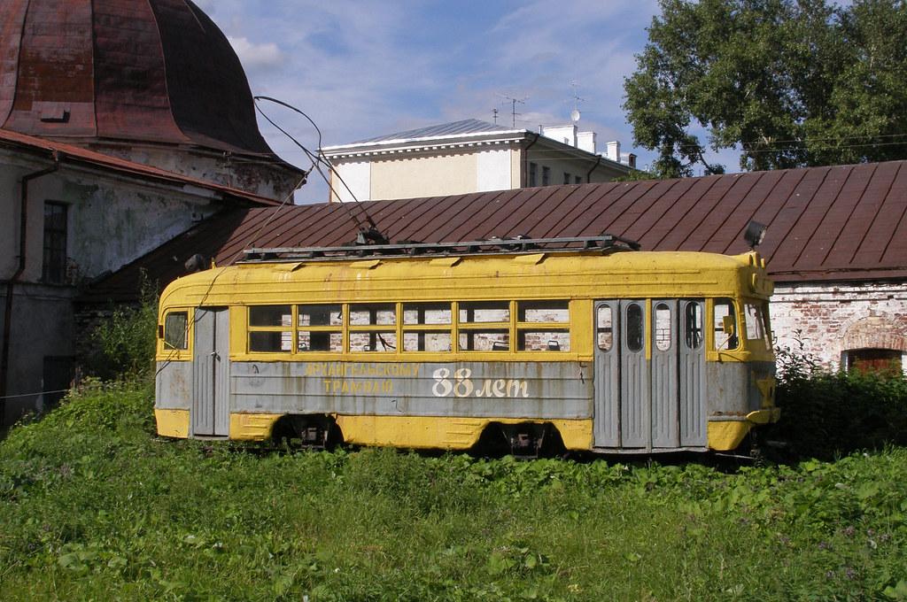 Последний архангельский трамвай, фото 2007-го года. трамваи