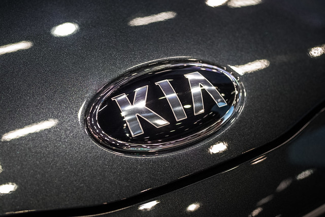 KIA logo close-up