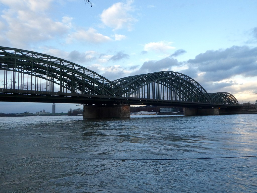 The Hohenzollern bridge across the Rhine in Cologne