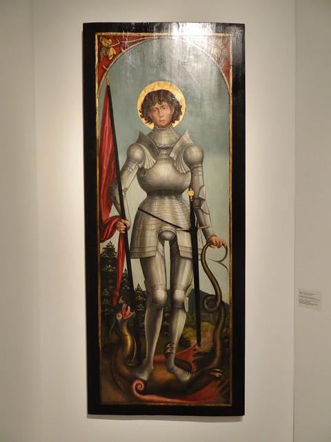 ca. 1520 - 'St. George & St. Maurice' (Master of the Moritzburg Altarpiece), Freiberg, Sachsen, Germany, Rudigier (München), TEFAF, Maastricht, Netherlands