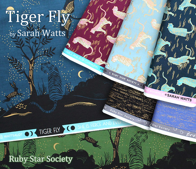Ruby Star Society Tiger Fly Collection by Sarah Watts