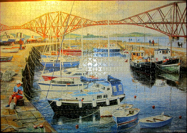 Queensferry Harbour, jigsaw puzzle