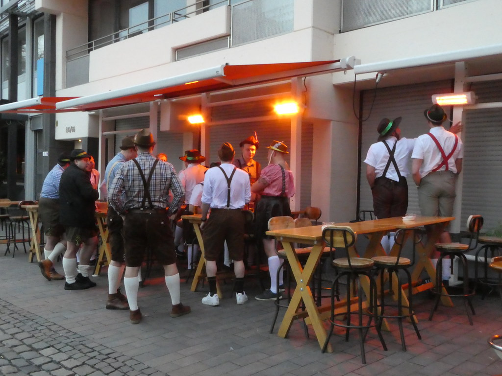 Lederhosen party in Cologne