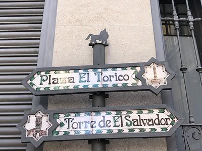 Cartel de la Plaza El Torico y Torre de El Salvador (Teruel)