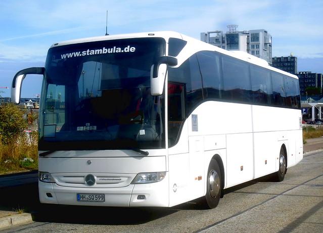 Dealer white Mercedes Tourismo HH-SQ599 Germany