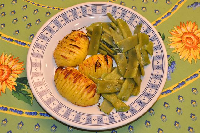 März 2020 ... Grüne Bohnen mit Backofenkartoffeln ... Brigitte Stolle