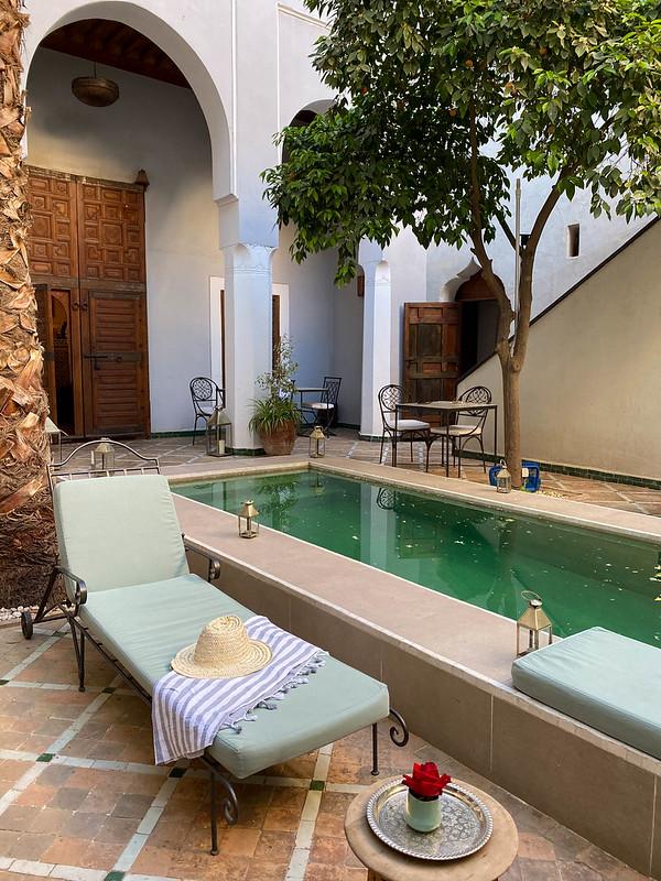 Riad-majoitus Marokossa