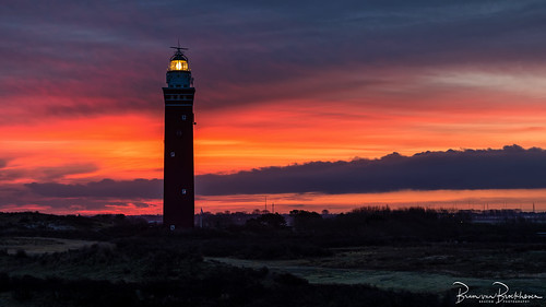 Lighthouse Westhoofd at Sunrise