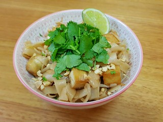 Pad Thai with Crispy Tofu