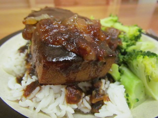 Baked Ginger-Lime Tofu with Caramelised Onions