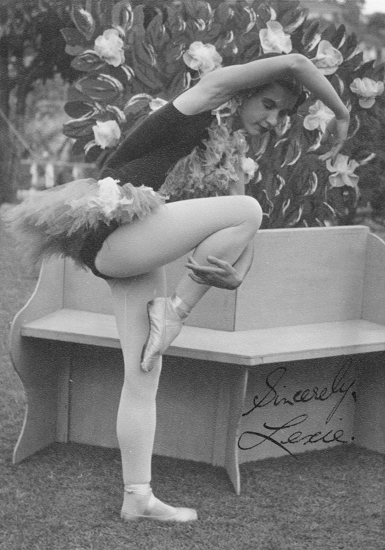 Ballet dancer striking a pose