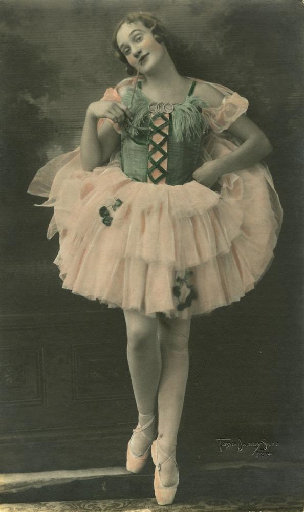 Ballet dancer Laurel Gill aged 14 striking a pose Brisbane Queensland 1930
