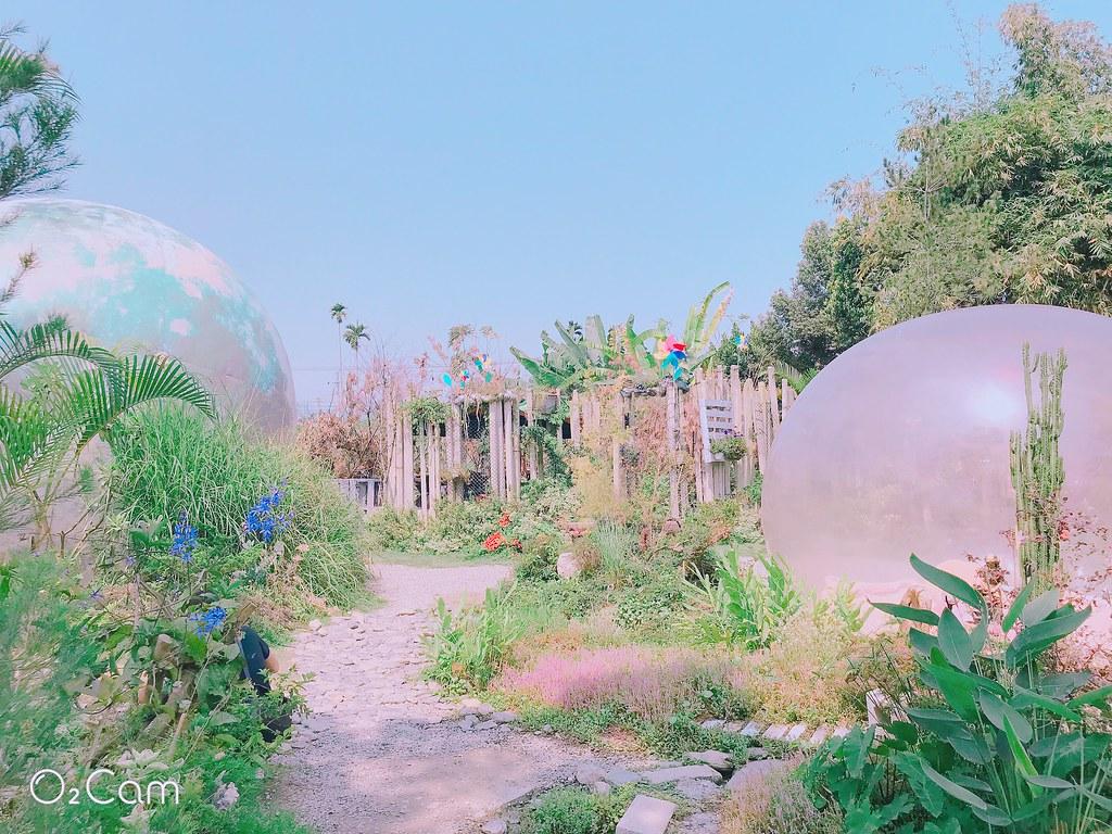南投埔里【多肉秘境】夢幻泡泡屋@免門票景點♥多肉盆栽DIY♥藍色大地球