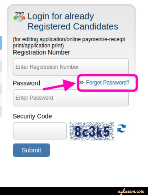 MAH M.Ed CET 2020 Forgot Password
