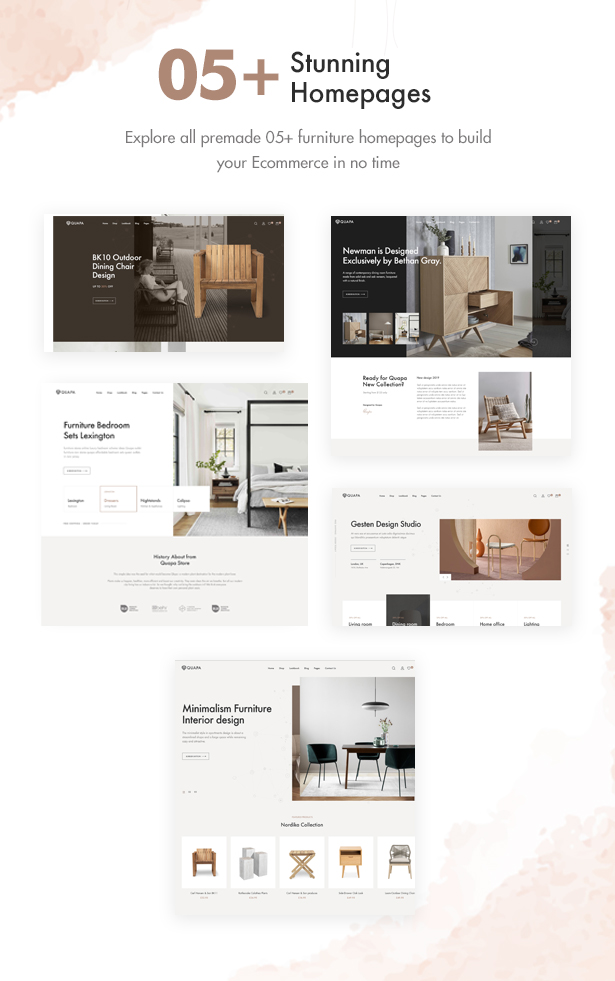 05+ Furniture Demos Homepages