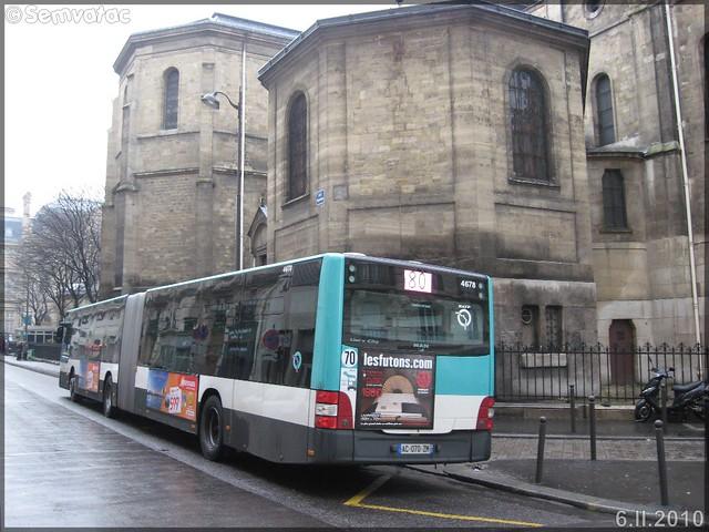 Man Lion's City G – RATP (Régie Autonome des Transports Parisiens) / STIF (Syndicat des Transports d'Île-de-France) n°4678