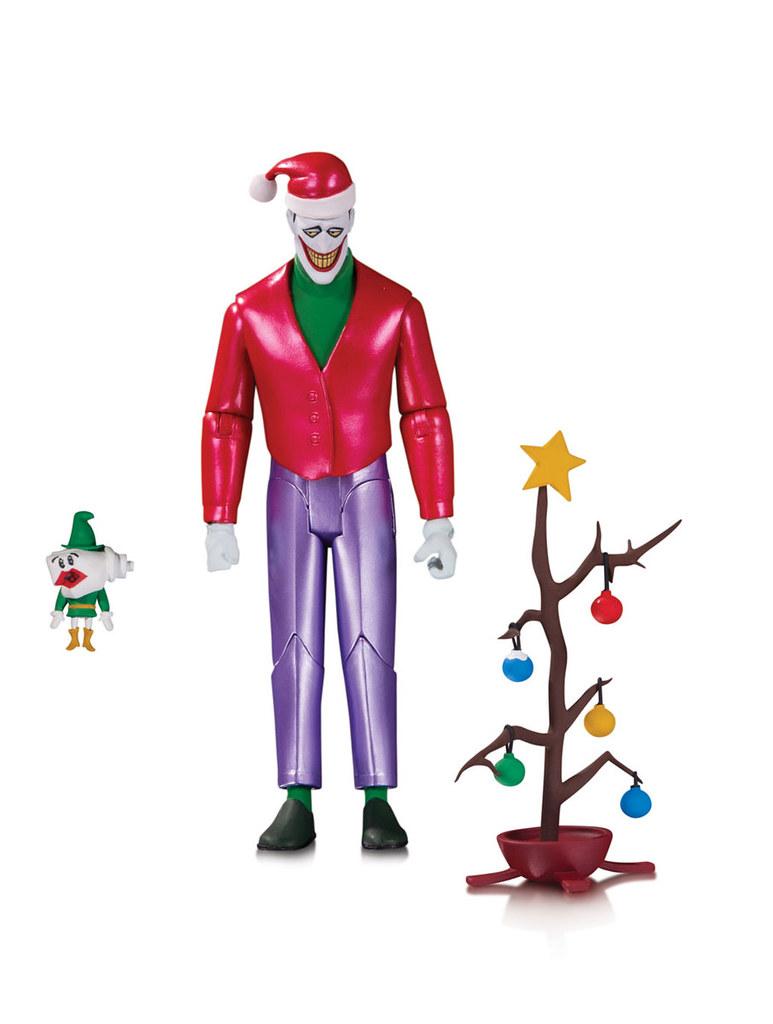 壞蛋出來搗亂才是高譚市的聖誕日常?! DC Direct《蝙蝠俠:動畫系列》聖誕節小丑 金屬配色版 Christmas With The Joker Metallic Ver. 可動人偶