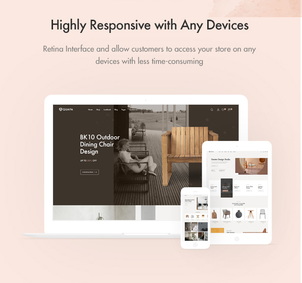 Responsive on any Devices