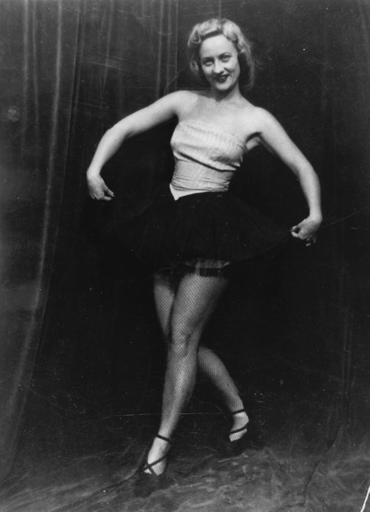 Peggy Ryans striking a pose