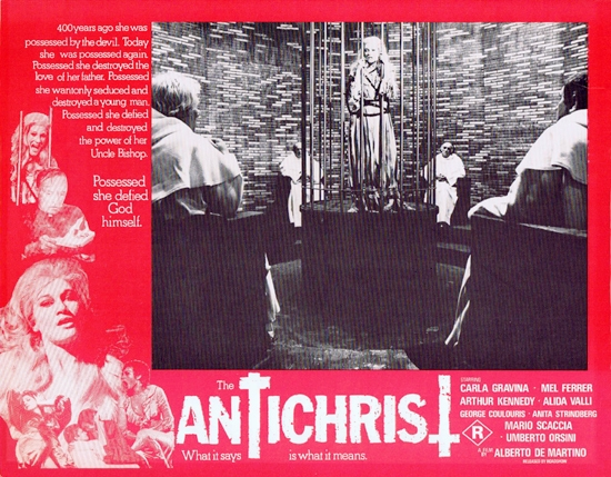 L'Antéchrist (Alberto De MArtino, 1974) - lobby card australienne
