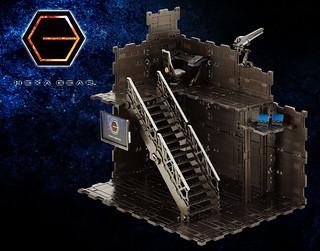 可無限擴張的基地套組!壽屋《HEXA GEAR 六角機牙》1/24比例組裝場景01 DX司令部(ヘキサギア ブロックベース01 DXヘッドクォーター)