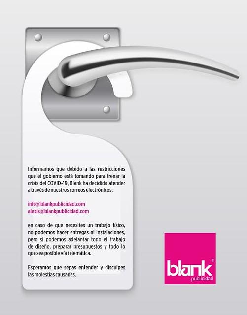 Aviso Coronavirus Imprenta Blank Publicidad en Lanzarote