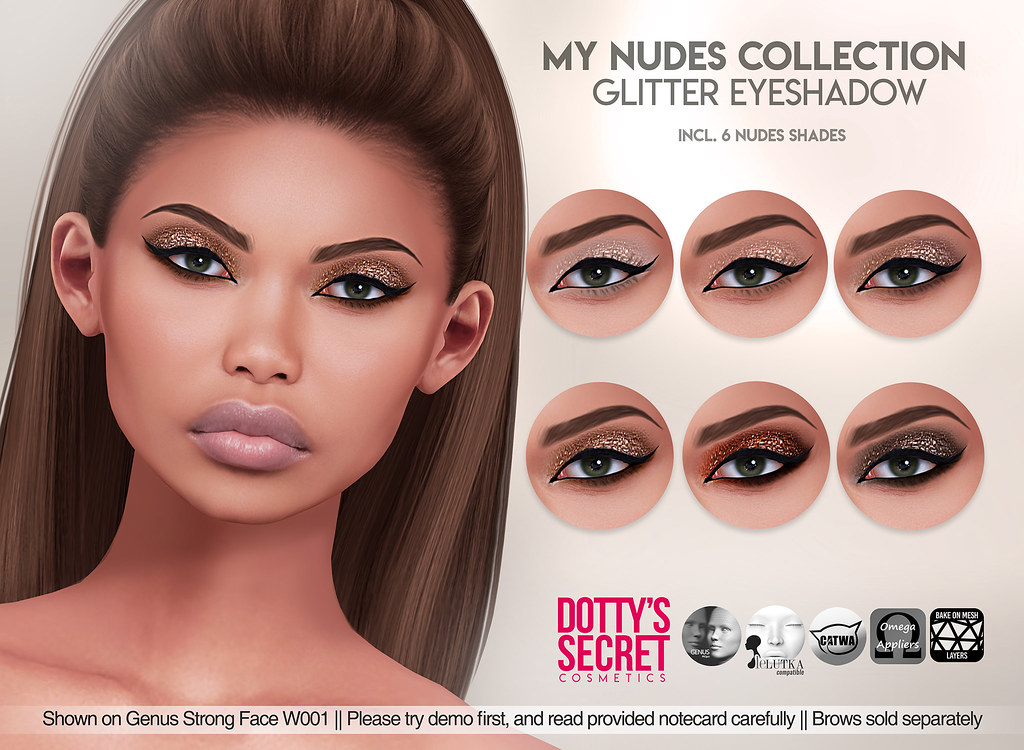 Dotty's Secret – My Nudes Collection – Cut Crease Eyeshadow – SKIN FAIR Exclusive