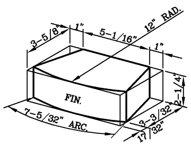 12 Inch Radius Radial Modular