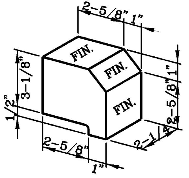 Lip Sloped Rowlock Modular