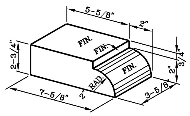2 Inch Radius Bullnose Header Jumbo Modular