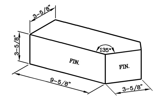 135 Degree One Half Bond External Corner Utility